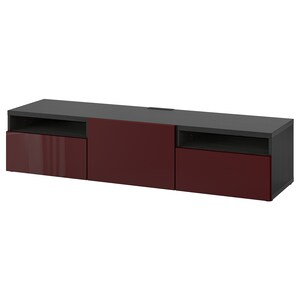 Colour: Black-brown selsviken/high-gloss dark red-brown.