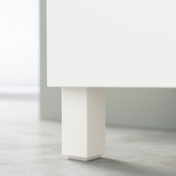 BESTÅ TV bench with drawers, white/Bergsviken/Stubbarp beige, 120x42x48 cm