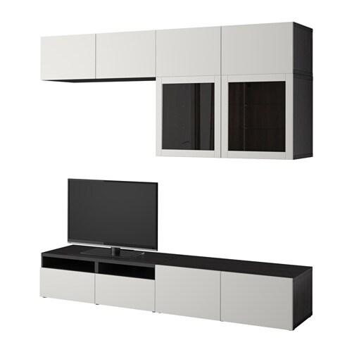 Best Tv Storage Combinationglass Doors Black Brown Lappviken