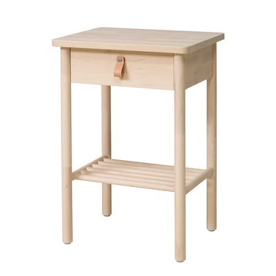 BJÖRKSNÄS طاولة سرير جانبية, بتولا, 48x38 سم