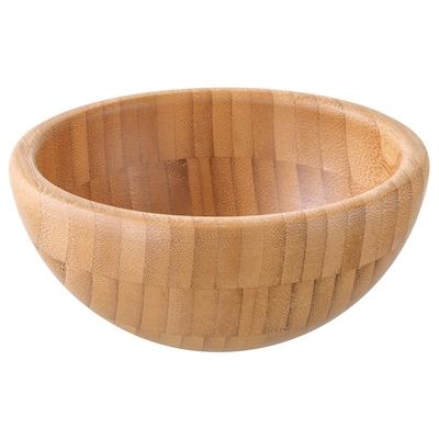 BLANDA MATT Serving bowl, bamboo, 12 cm