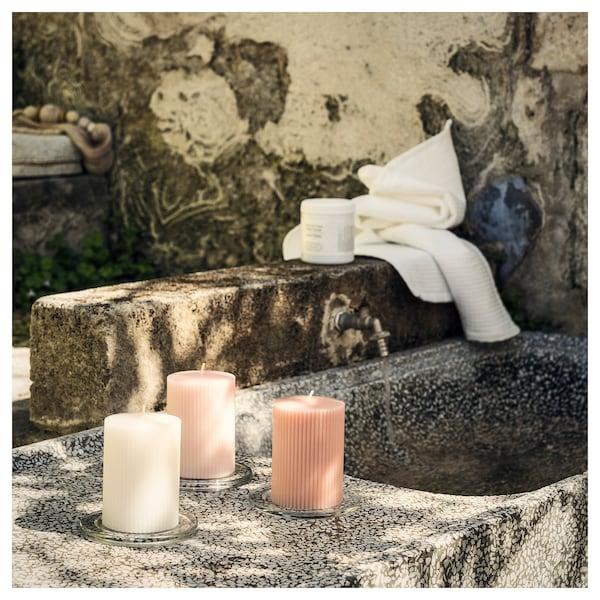 BLOMDOFT scented block candle Sweet pea/light orange 10 cm 7 cm 30 hr 3 pack