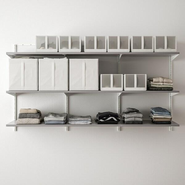 BOAXEL 3 اقسام, أبيض/رمادي, 187x40x101 سم