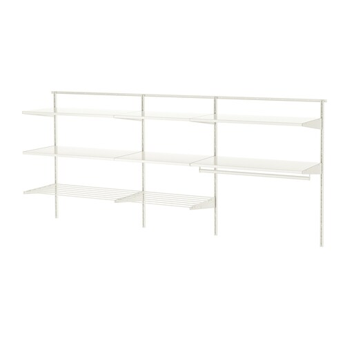 BOAXEL 3 sections white/metal 222.0 cm 40.0 cm 100.6 cm