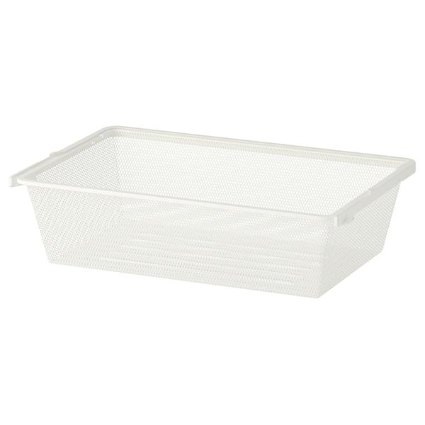 BOAXEL Mesh basket, white, 60x40x15 cm