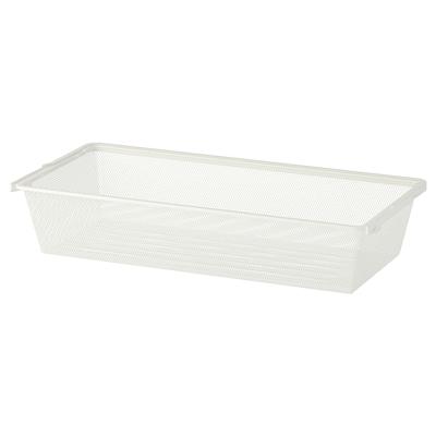 BOAXEL Mesh basket, white, 80x40x15 cm