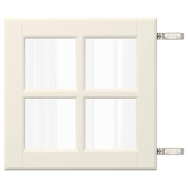 BODBYN Door with hinges, off-white, 40x40 cm