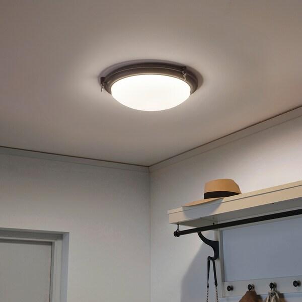 BOGSPRÖT إضاءة سقف LED, فحمي, 36 سم