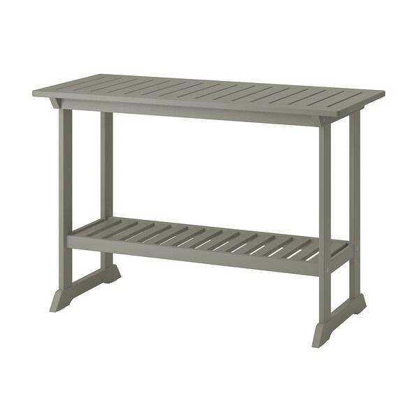 BONDHOLMEN طاولة كونسول، خارجية, رمادي, 111x46 سم