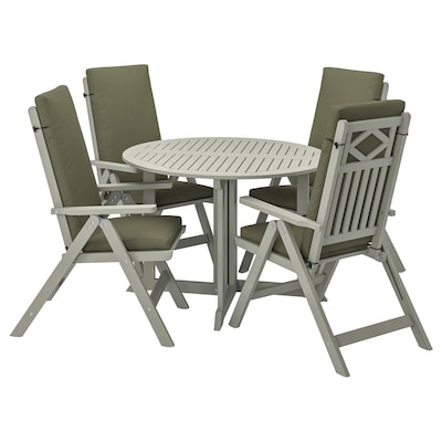 BONDHOLMEN طاولة+4 كراسي استلقاء، خارجية