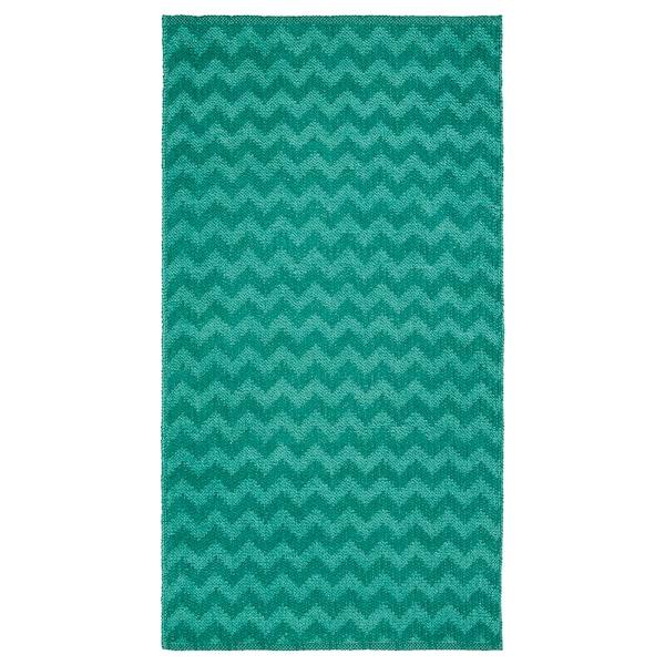 BREDEVAD سجاد، غزل مسطح, نقش متعرج أخضر, 75x150 سم