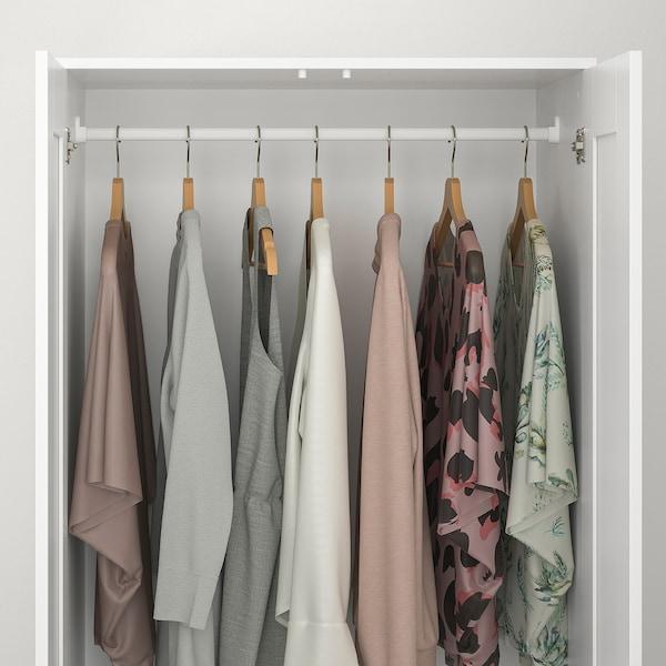 BRIMNES دولاب ملابس مع بابين, أبيض, 78x190 سم