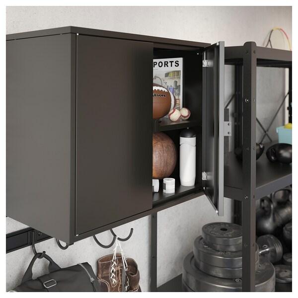 BROR Cabinet with 2 doors, black, 76x40x66 cm