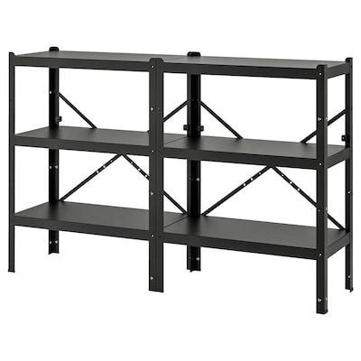 BROR Shelving unit, black, 190x40x110 cm