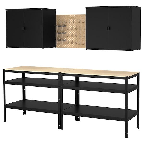 Bror Storage With Cabinet Work Bench Ikea