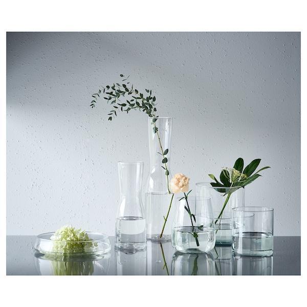 CYLINDER طقم 3 قطع, زهرية/طبق عميق, زجاج شفاف