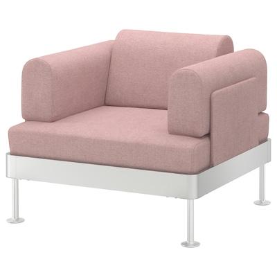 DELAKTIG Armchair, Gunnared light brown-pink