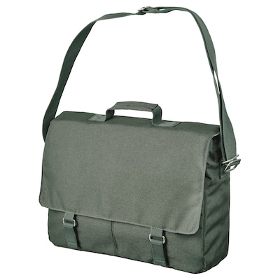DRÖMSÄCK Messenger bag, olive-green, 14 l