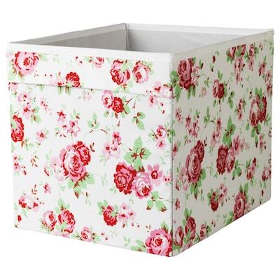 DRÖNA صندوق, نقوش نباتية, 33x38x33 سم