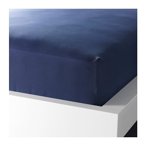 DVALA Fitted sheet, dark blue