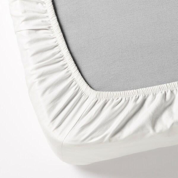 DVALA ملاءه تثبيت, أبيض, 180x200 سم