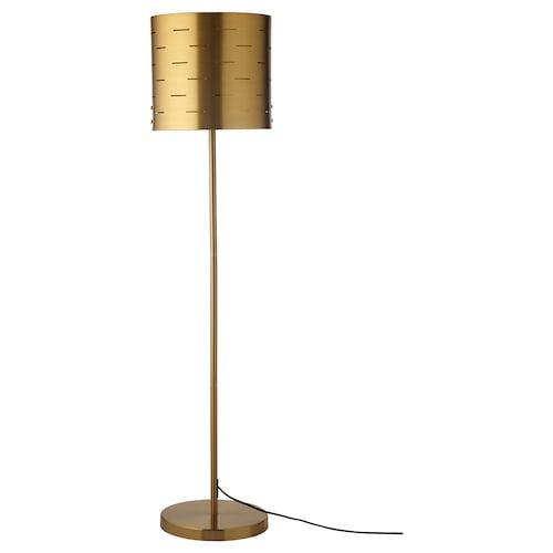 EBBEMÅLA floor lamp brass-colour 100 W 117 cm 27 cm 3.5 m