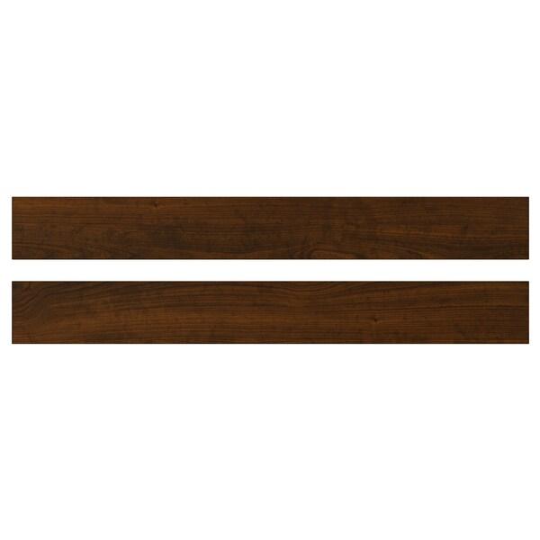 EDSERUM واجهة دُرج, مظهر الخشب بني, 80x10 سم