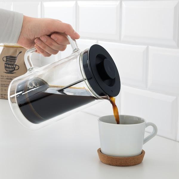 EGENTLIG coffee/tea maker double-walled/clear glass 21 cm 0.9 l