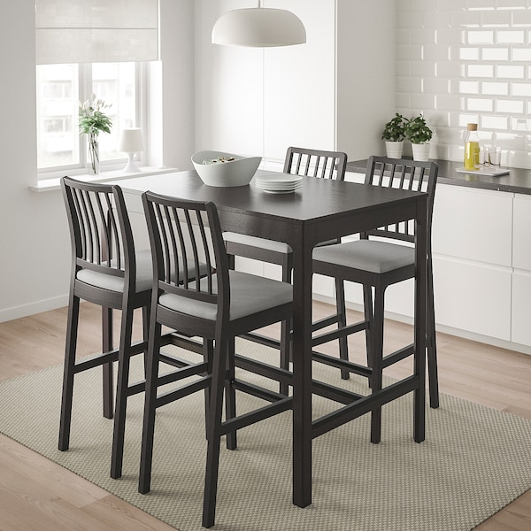 EKEDALEN طاولة مرتفعة, بني غامق, 120x80x105 سم