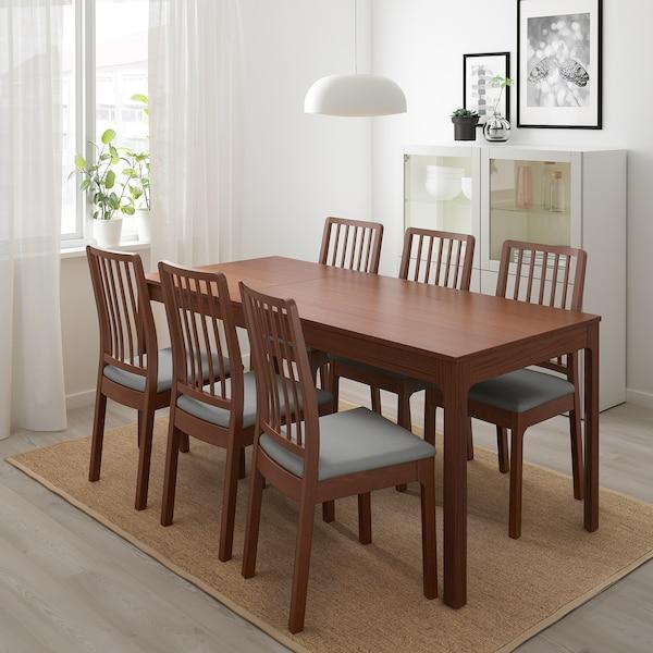 EKEDALEN Extendable table, brown, 120/180x80 cm