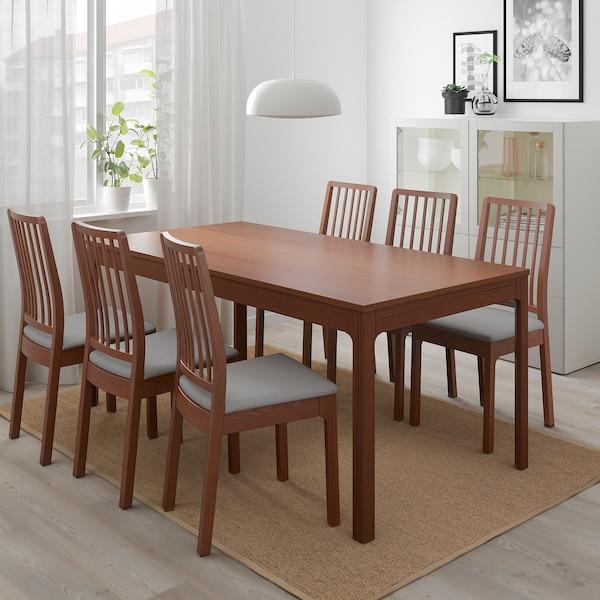 EKEDALEN Extendable table, brown, 180/240x90 cm