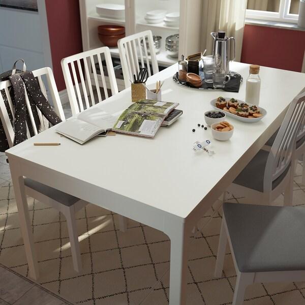 EKEDALEN Extendable table, white, 180/240x90 cm