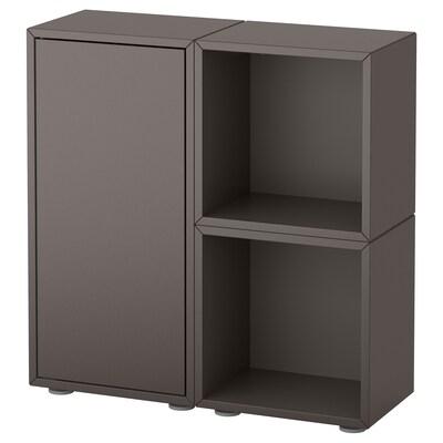EKET Cabinet combination with feet, dark grey, 70x25x72 cm