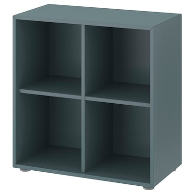 EKET Cabinet combination with feet, grey-turquoise, 70x35x72 cm