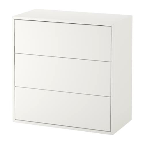EKET Cabinet with 3 drawers, white
