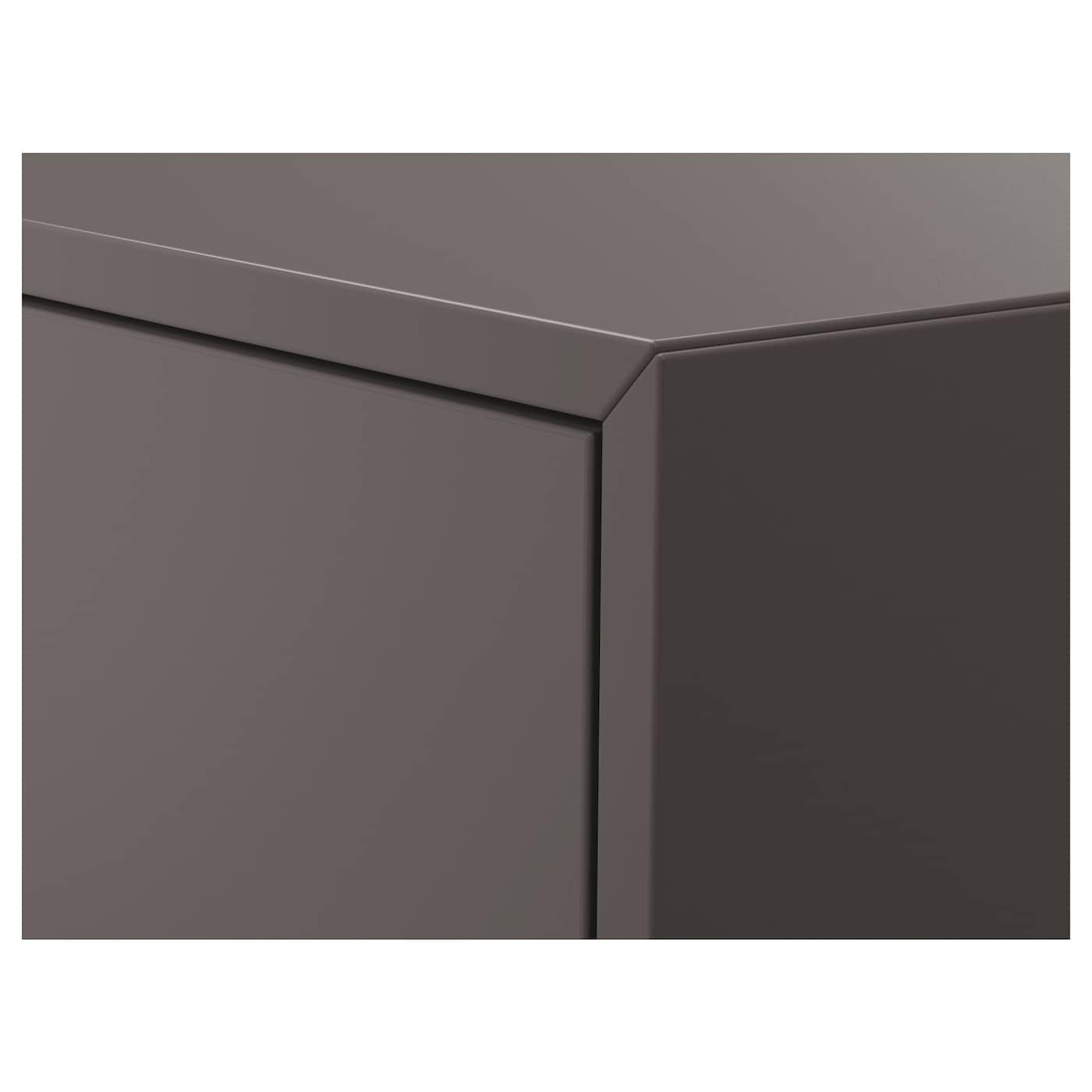 EKET تشكيلة خزانة حائطية, رمادي غامق, 80x35x210 سم