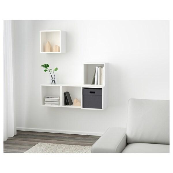 EKET تشكيلة خزانة حائطية, أبيض, 105x35x120 سم