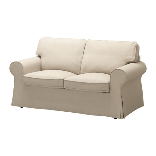 ektorp cover two seat sofa nordvalla dark beige ikea. Black Bedroom Furniture Sets. Home Design Ideas