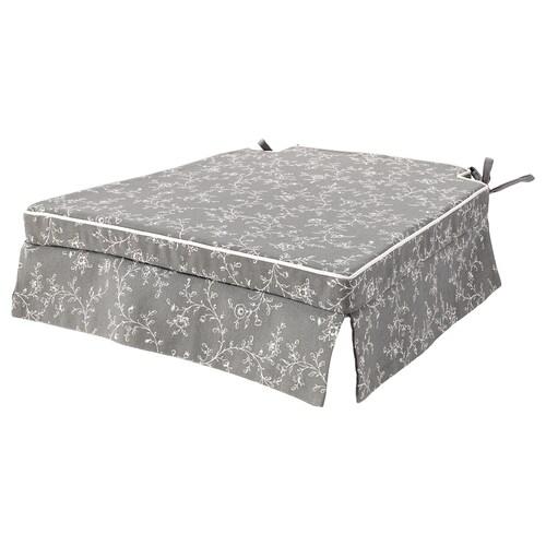 ELSEBET chair pad grey 43 cm 42 cm 4.0 cm