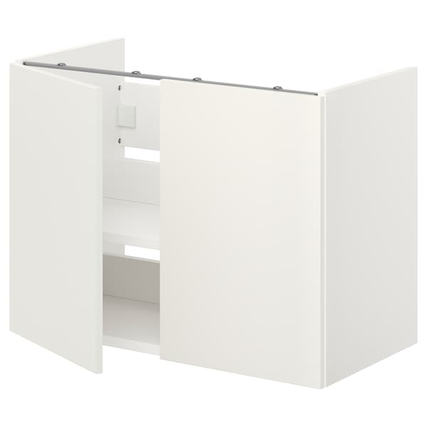 ENHET خزانة حوض مع رف/أبواب, أبيض, 80x40x60 سم