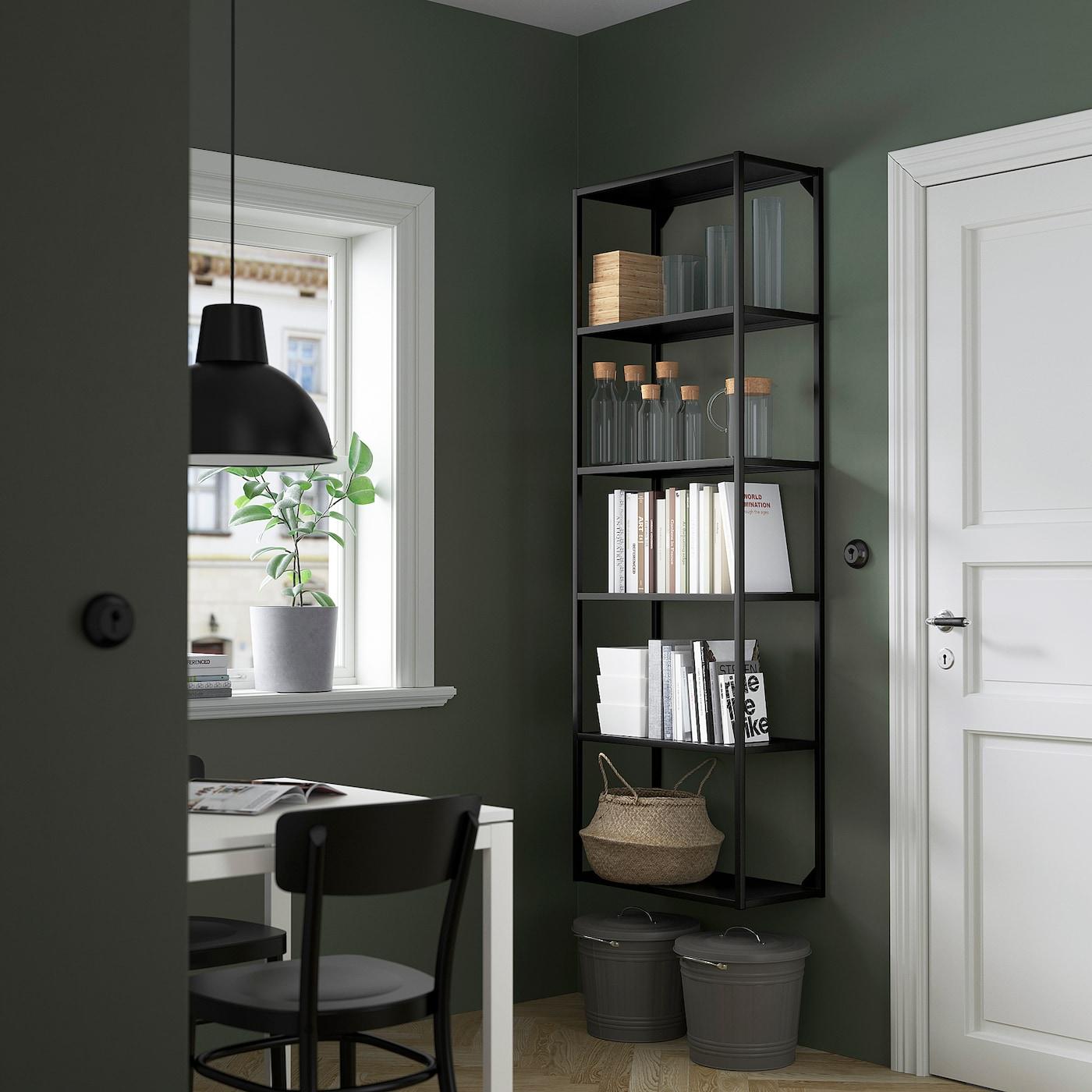 ENHET High fr w shelves, anthracite, 60x30x180 cm