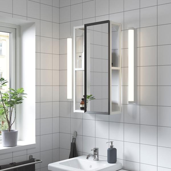 ENHET خزانة ذات مرآة, أبيض, 40x15x75 سم