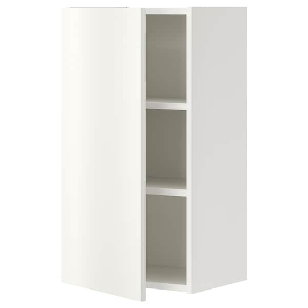 ENHET Wall cb w 2 shlvs/door, white, 40x30x75 cm