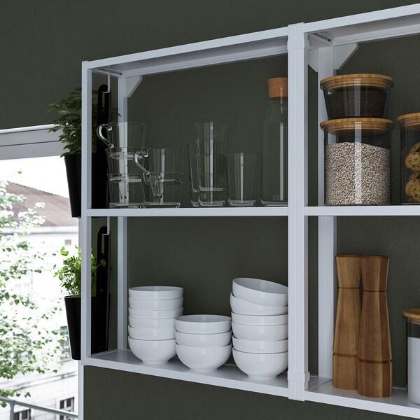 ENHET Wall fr w shelves, white, 60x15x75 cm