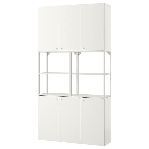 ENHET Wall storage combination, white, 120x30x225 cm