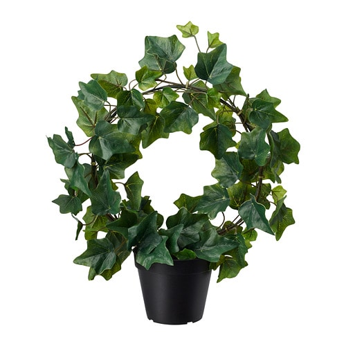 FEJKA Artificial potted plant, in/outdoor, Ivy bow