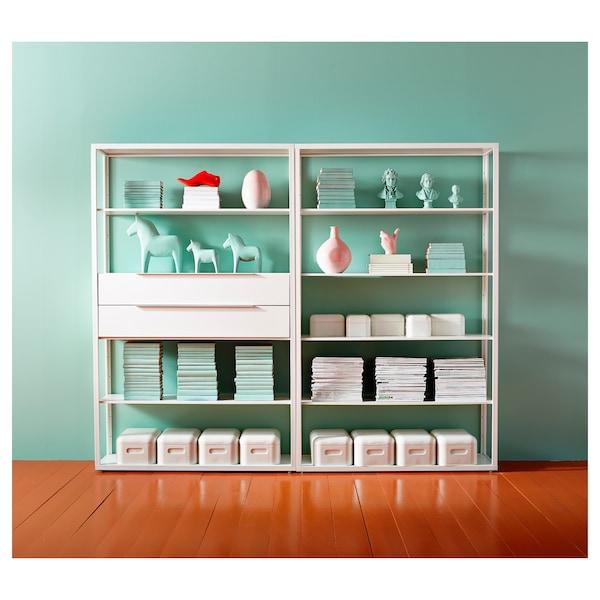 FJÄLKINGE Drawer unit with 2 drawers, white, 118 cm