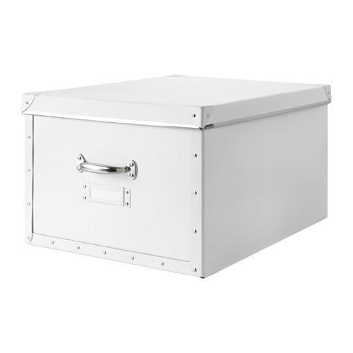 FJÄLLA Box with lid, white