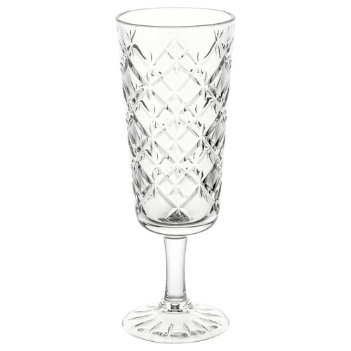 FLIMRA champagne glass clear glass/patterned 17.4 cm 19 cl
