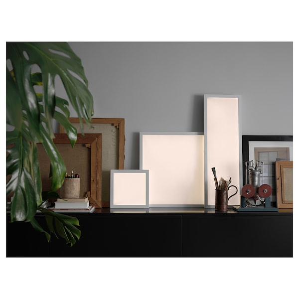 FLOALT لوحة إضاءة LED, خافتة للضوء/طيف أبيض, 60x60 سم